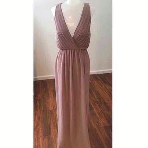 Mauve flowing gown
